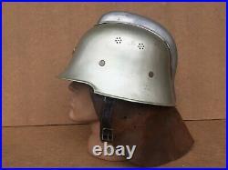 Helmet German M-34 fire police + balaclava, original, suite WW2 WWll