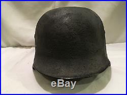 High Quality WWll M1935 German SS Helmet with Loose Liner & Chinstrap WW2