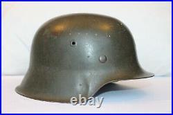 M42 German Helmet Captured Bring Back War Trophy with Liner WWII WW2 World War Two