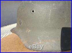 M42 Quist Q64 No Decal Ultra Rare Lot# Ww 2 German Helmet Original