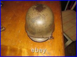 Nice Tan M-40 German Ww2 Helmet Africa Corp -complete