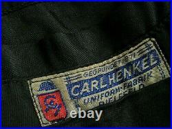 ORIGINAL WW2 CARL HENKEL GERMAN TUNIC & TROUSERS UNIFORM'S / HELMET'S etc
