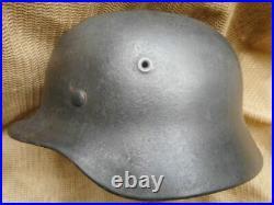 ORIGINAL WW2 GERMAN ARMY / ELITE WSS m40 STEEL COMBAT HELMET none decal