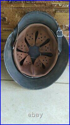 ORIGINAL WW2 GERMAN M40 Helmet Medical, cool number 1001, hkp62 Stigma