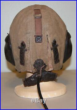 ORIGINAL WW2 German Luftwaffe Summer Cloth Flight Helmet LKp S 101