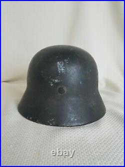 Old WW2 German Helmet 1941 Amazing Condition M42, M40, Size 55