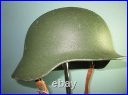 Orig. 1950s helmet German border troops BGS casco stahlhelm BRD WW2 style