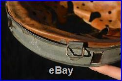 Original 1940 WW2 German Helmet Zinc-Coated Steel Liner Size 58