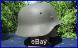 Original-Authentic WW2 WWII Relic German helmet Wehrmacht manufacturer number #1
