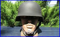 Original-Authentic WW2 WWII Relic German helmet Wehrmacht manufacturer number #2