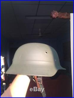 Original Beautiful German WW2 M-35 Helmet Marked ET 66 and Numbered