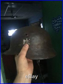 Original Beautiful WW 2 German Helmet M-35/40 with Liner found on Eastfield
