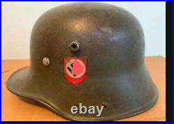 Original GERMAN WW2 SS HELMET WWII M1916 STALLHELM TRANSITIONAL HELMET ORIGINAL