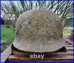 Original German Helmet M35 Relic of Battlefield WW2 World War 2 Liner