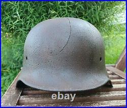 Original German Helmet M40 Relic of Battlefield WW2 World War 2 Decal