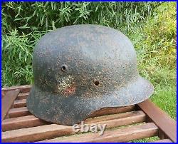 Original German Helmet M40 Relic of Battlefield WW2 World War 2 Stamp Decal