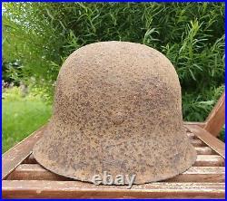 Original German Helmet M42 Relic of Battlefield WW2 World War 2 Decal Liner
