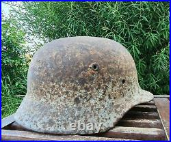 Original German Helmet M42 Relic of Battlefield WW2 World War 2 Number DN88