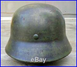 Original German WW2 M35 SE68 Helmet withLiner Huge Size 68 Shell M-35