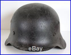 Original German WW 2 M 42 Helmet marker hkp size 64