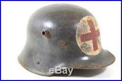 Original German WW 2 Red Cross Helmet marked SE64