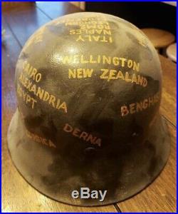 Original WW2 5th Army SD M42 German Helmet RARE