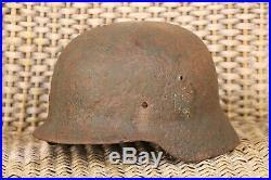 Original WW2 Battlefield Relic German Helmet M40 decal from russia