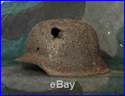 Original WW2 Battlefield Relic German Helmet M42 (with Battle Damage) Kurland