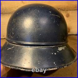Original WW2 German Army Luftshutz Gladiator Helmet Flak Defence Normandy