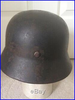 Original WW2 German Army M35 Reissue Combat Helmet Size 68