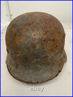 Original WW2 German Army Relic Helmet Loads of paint Named