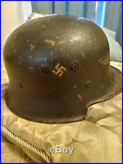 Original WW2 German Helmet Luftschutz Gladiator # RL2-38/28