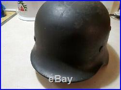 Original WW2 German Helmet M35 ET66 Eisenhüttenwerk Thale / Herz