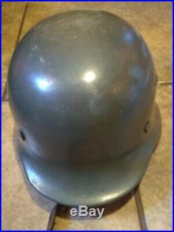Original WW2 German Helmet M35 Outstanding Condition Rare