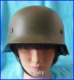 Original WW2 German Helmet Norwegian Army decals Post War Norway