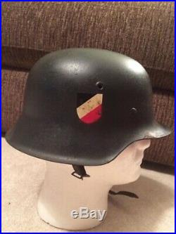 Original WW2 German Helmet Norwegian Reissued Luftwaffe Blue