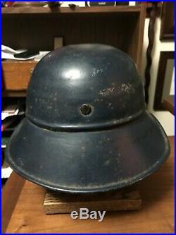 Original WW2 German Luftschutz Beaded Helmet