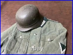 Original WW2 German M35 Beaded Helmet Shell (size 68)
