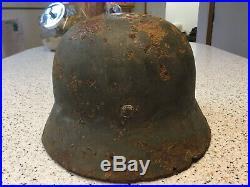 Original WW2 German M35 Helmet DD Eastern Front