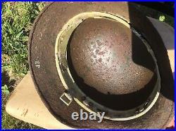 Original WW2 German M35 Helmet DD Stalingrad Panzergrenadier