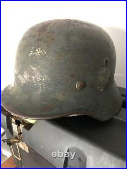 Original WW2 German M35 Helmet Shell EF62