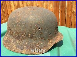 Original WW2 German M40 Helmet Stalingrad