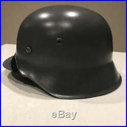 Original WW2 German M 1942 Combat Helmet Post War Refurbished Large Size