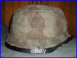 Original WW2 German Splinter Fallshirmjager Paratrooper Helmet Cover, Uniform Cap