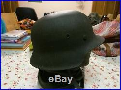 Original WW2 M42 Raw Edge German Helmet
