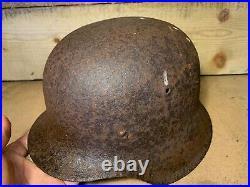 Original WW2 Normandy Relic German Army Wehrmacht Helmet #102