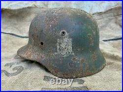 Original WW2 WWII German Helmet M-35 Size 62