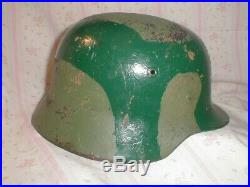 Original WW2 WWII German M 42 Helmet that started as M 35 Africa Italy
