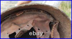 Original WWII German M-40 Stahlhelm Military Helmet Unrestored WW2 size 64
