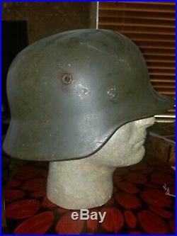 Original WWII WW2 German Helmet Army Dark Grey Wehrmacht